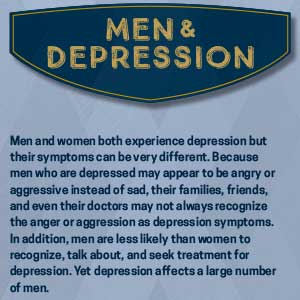 signs of depression in men